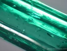 Calcite inclusions in emerald