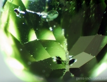 Lily pad and chromite inclusions in peridot