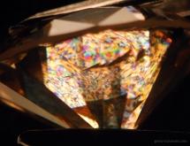 Anomalous birefringence observed in type Ia diamond