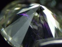 Flash effect in treated diamond