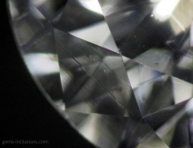 Internal growth lines in polished diamond