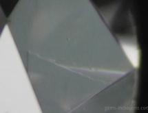 Graininig on the surface of polished diamond