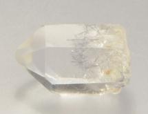 Dumortierite inclusions in quartz