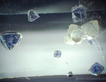 Fluorite inclusions in quartz
