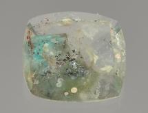 Ajoite inclusions in quartz
