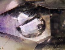 Negative crystal Brandberg amethyst