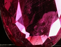 Boehmite exsolution needles in ruby