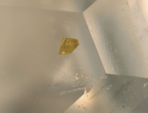 Microlite inclusions in colorless in topaz