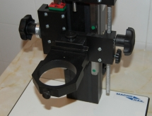 MacroRail with the ring for microscope head mounting