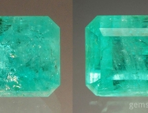 Emerald before and after oil fracture filling