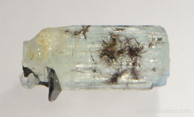 Columbite-tantalite in quartz rough